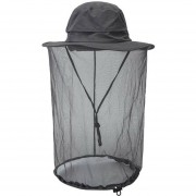 cabeza de Mosquito de sol Bug Bee protección malla pesca al aire libre Cap Sombrero LANG(#Gris oscuro)