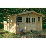 Abri de jardin bois SION 13.7 m2 Ep.28 mm