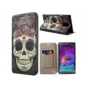 Husa din piele Gigapack pentru telefon Samsung Galaxy Note 4 (SM-N910C) , negru