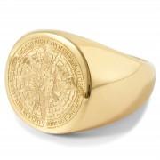 Lucleon Goudkleurige Ryker Ring