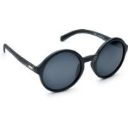 DE RENE Round Sunglasses(Black)