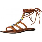 Sam Edelman Women's Lorelle Gladiator Sandal, Saddle/Multi, 6 M US