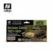 Vallejo German Colors 1927-1941 Air Color Set 71205