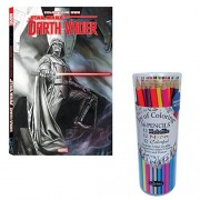 CloseoutZone Color Your Own Star Wars Darth Vader Coloring Book & Colored Pencils