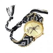 4: Toogoo Female Giraffe Pattern Weave Bracelet Watch 9