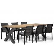 Lifestyle Garden Furniture Lifestyle Chalina/Cardiff 240 cm dining tuinset 7-delig