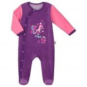 Petit Béguin Pyjama bébé velours Pretty Ice - Taille - 3 mois