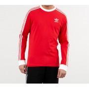 adidas 3-Stripes Longsleeve Tee Lush Red