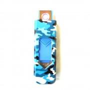 USB öngyújtó - Terepmintás - Kék