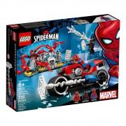 Lego set de construcción lego super héroes rescate en moto de spider-man 76113