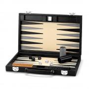 Backgammon Set 15 Jet Black Lizard
