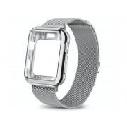 Bransoleta etui Alogy 2w1 pasek stalowy do Apple Watch 4/5 42mm srebrna
