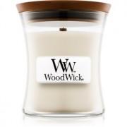 Woodwick Island Coconut lumânare parfumată cu fitil din lemn 85 g