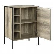 [en.casa]® Armario - Cómoda - Apariencia de madera / Negro - 78 x 60 x 39cm