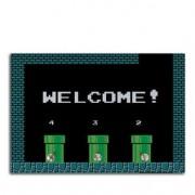Porta Chaves Super Mario Bros Canos Welcome