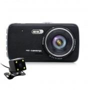Camera Auto Dubla iUni Dash DC04 , Full HD, Senzor G, LCD 4.0 Inch, Detectare miscare, Night vision