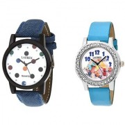 Laurex Analog Leather Watches for Lovely Couple Combo-LX-019-LX-131