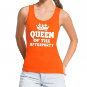 Shoppartners Oranje Queen of the afterparty tanktop / mouwloos shirt dames