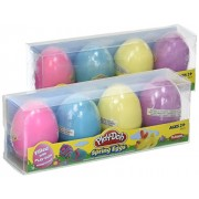 Play-Doh SPRING Eggs Filled with Play-Doh (2) 4-pack Multi Colored Eggs for Egg Hunts and Easter Bas
