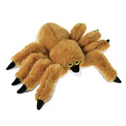Puzzled Brown Spider Super - Soft Stuffed Plush Cuddly Animal Toy Animals / Wild Insects Theme 7 Inch (5781)