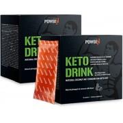 PowGen Keto Drink Dúo Con 75% de polvo MCT de coco puro Sin aceite de palma 20 sobres (30 g) para 20 días