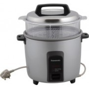 Panasonic SR-Y22FHS Electric Rice Cooker with Steaming Feature(5.4 L, Silver)