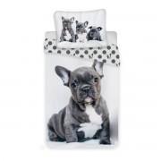 Lenjerie de pat Jerry Fabrics Bulldog, de copii, din bumbac,140 x 200 cm, 70 x 90 cm