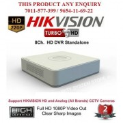 HIKVISION 2 MP DS-7108HQHI-F1 Turbo HD 1080P 8Ch. HD DVR Standalone 8Ch.
