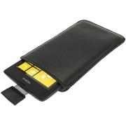 Capa em Pele iGadgitz para Nokia Lumia 520 - Preto