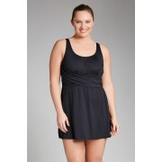 Womens Quayside Woman Wrap Skirted Swimsuit - Black
