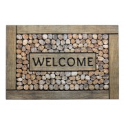 Hamat Deurmat Welcome Framed Pebbles