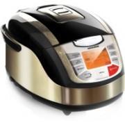 Redmond RMC-M4502E, Digital smart multicooker Rice Cooker, Food Steamer, Slow Cooker, Deep Fryer(5 L, Black, Metallic)