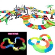 Vortex Toys The Amazing Race track that Can Bend Flex Glow Juniors Ride On Car Magic Baby Magic Tracks Race Track Gifts New 257 pieces of Glow Track!