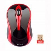 A4tech G3-280N, V-Track, bezdrôtová optická myš, 2.4GHz, 10m dosah, čierno-červená