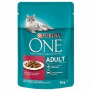 Fai scorta! Purina One 24 x 85 g - Coat & Hairball con Pollo e Fagiolini
