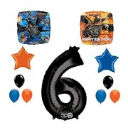 New How to Train Your Dragon 6th Birthday Party Supplies and Balloon Decorations