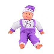 Kajal Toys™ 54 cm Baby Musical and Laughing Boy Doll Stuffed Toys,Touch Sensors with Sound,(Purple)