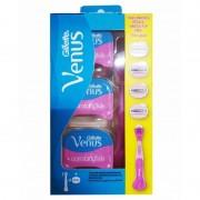 Gillette Venus Comfortglide Spa Breeze Razor 1 st + 4 st Rakhyvlar