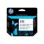 HP Cabezal de Impresión Original HP 771 Magenta Claro / Cián Claro CE019A para DesignJet Z6200, Z6600 , Z6800