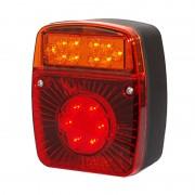 LED hátsó lámpa kocka 12/24V 3funkciós