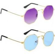SRPM Aviator Sunglasses(Blue, Violet)