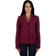 Sacou femei lana La Redoute jacheta dama cu cotiere contrast sacou dama jacheta femei grena 36