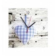 Ceas de perete din MDF - inima albastra - My Clock