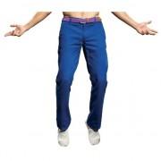 Asquith & Fox Blauwe katoenen lange broek heren