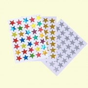 30 Sheets Count Star Stickers Gold Silver Colorful Self-Adhesive Stickers Stars