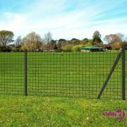 vidaXL Euro ograda čelična 10 x 0,8 m Siva
