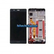 touch screen lcd display con frame huawei ascend p9 nero + biadesivo
