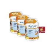 Epaplus -Pack 3 unidades Colágeno, silicio, hialurónico, magnesio en polvo sabor limón 3x334g (Nueva Fórmula)