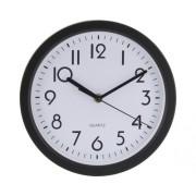 Ceas de perete Dia cu rama neagra Ø 23 cm