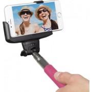 Selfie stick KitVision BTSSPHPI cu suport de telefon, conectare prin Bluetooth, declansator pe maner (Roz)